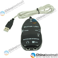 Wholesale Guitar Accessories USB Guitar Link Cable PC MAC To Guitar USB Interface Audio Link Cable Black White