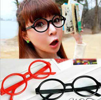 Wholesale Fashion retro Women men Budding Rounded Glasses ladies Accessories eyeglass Frames cute candy colors t5164