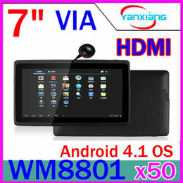 Wholesale 50pcs NEw Android tablet With HDMI Out put inch WM Q88 Q8 RW L07
