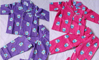 Wholesale Giggle and Hoot children girl long sleeve purple pink flannel flannelette winter pyjamas pajamas sleepwear Pjs