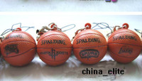 Wholesale New Spalding Basketball PVC Figure Pendants Charms Cell Phone Keychain Mobile Straps Sports Key Chain Ball Keyring Mix Order