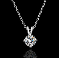 Wholesale Top quality plated K gold Czech diamond pendant necklace engagement jewelry