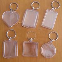 acrylic blanks - Fedex Shipping Factory price acrylic blank photo keychain keyring diy yourself photo keychain