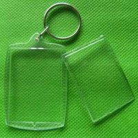 Wholesale Acrylic blank photo key chain Plastic key ring DIY yourself photo keychains heart round square shaped t5169