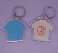 Wholesale Factory price DIY Photo Keychains Acrylic Blank Key Chains Insert Photo Plastic Keyring Rectangular Heart Round Shape
