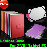 Wholesale Universal inch inch PU Leather Case Cover Protective Skin Jacket For Android Flytouch Tablet PC Many Colors