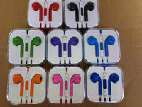 Wholesale Colorful Earphone for Iphone Headphone Earbods Headset with Mic and Volume Control with box for iphone g
