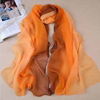 Wholesale 2013 Korean fashion silk scarves long section of the multi color women chiffon georgette scarf ladies sun shawl t5172