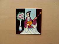 One Panel ceramic wall tile - 6 x inches mmx152mm hand painted ceramic wall art hand painted picture tile hand made wall plaque ceramic coaster