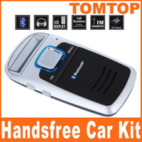 Wholesale Solar Powered Car Bluetooth Cell Phone Handsfree Kit MP3 K343