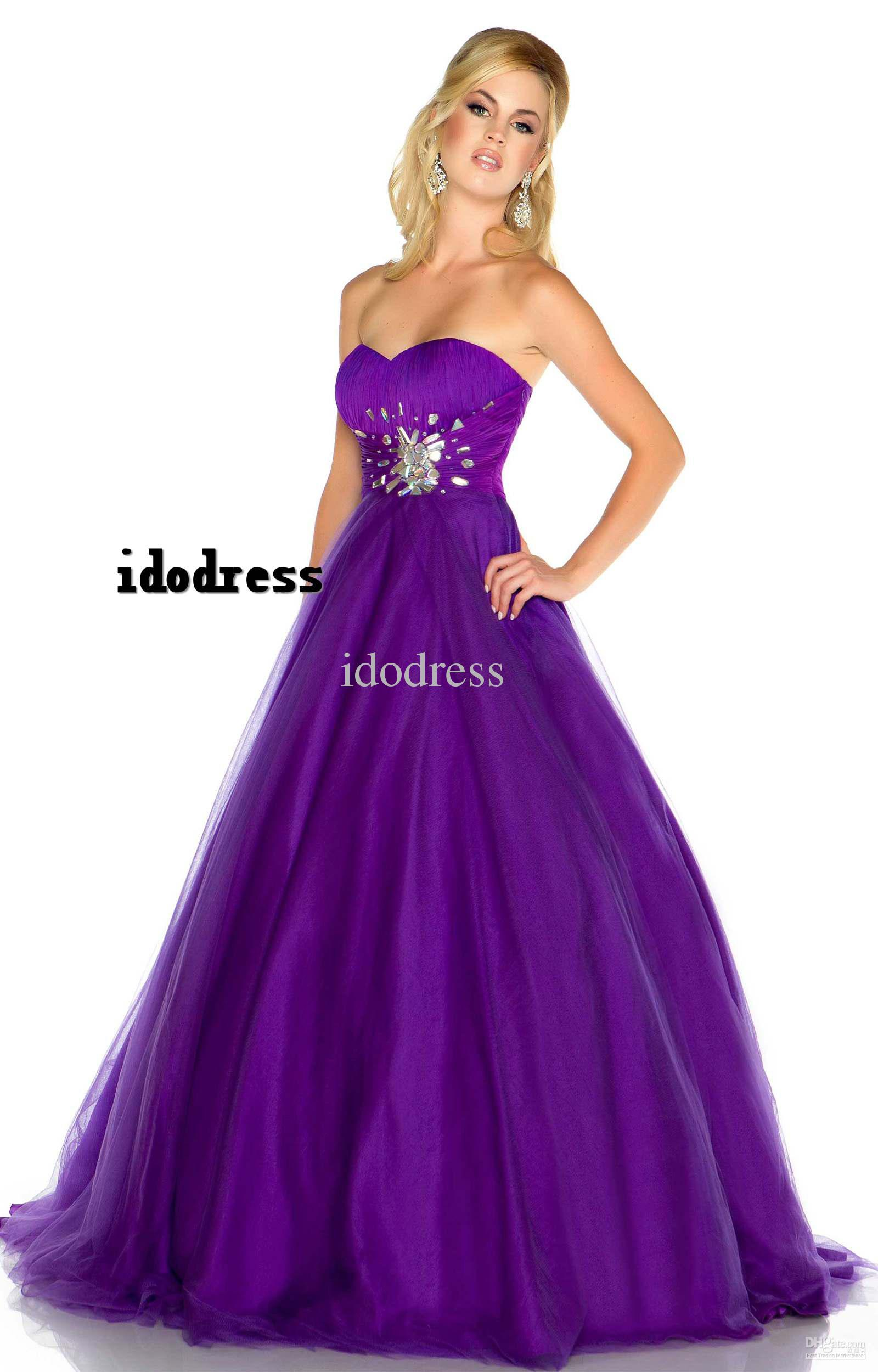 High Quality Simple Style Prom Dresses Ball Gown Sweetheart Floor ...