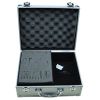 Wholesale Tattoos Silver Tattoo Gun Tool Accessories Kit Carrying Case Box