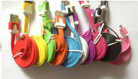 Wholesale Noodle Micro M USB Sync Data amp Charge Cable For HTC Samsung Galaxy S3 I9300Galaxy Note N7100