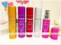 Wholesale 5ML Diamonds Heart Pattern Colors perfume Bottles Fragrance For Perfume Shop P30