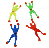 Wholesale Viscosity Climb Superman Climbing Walls Spider Men Turn Jump Elf Miniatures Toys Activity Dolls