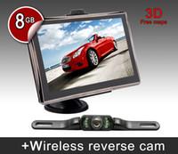 Wholesale 7 inch Car GPS navigation system G memory Bluetooth AV IN FM rearview parking camera free map GPS navigator