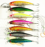 Wholesale fishing lures Hot selling colors CM G plastic Proberos style laser Minnow bass fishing hard bait