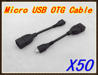 Wholesale 50pcs low price Universal USB Female to Micro Pin Male USB OTG Host Extension Cable RW L11