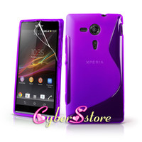 Silicone sony xperia sp - 100pcs Colorful S line Soft Clear Rubber Gel TPU Case Cover for Sony Xperia SP M35h