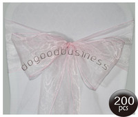 Wholesale the wedding organza chair sash light pink