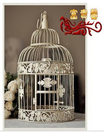 Wholesale Rich iron birdcage soft decoration Large birdbrains fashion bird cage top sale