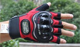 PRO-BIKER half finger gloves knight gloves bike gloves motorcycle gloves bicycle riding glove Moto racing gloves motorbike gloves