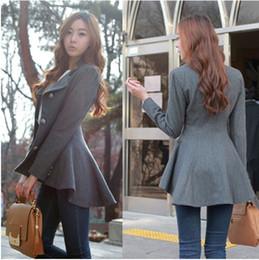 Wholesale Fashion Women Korean Dovetail Slim Wool Coat Ladies Designer Irregular Long Blazer Winter Outwear