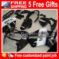 black white west + 5gifts Body for KAWASAKI NINJA ZX 12R 02-...