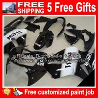 black white west + 5gifts Body for KAWASAKI NINJA ZX 12R 02-...