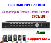 Wholesale 2PCS HD Full D1 P H CH H Alarm Real Time Standalone CCTV Security Network DVR HDMI MAC