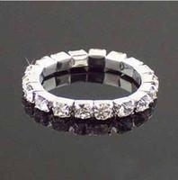 Nueva Novia de estilo de la Joyería de diamantes de imitación de Cristal Tramo de Tenis Anillo de la Joyería de la Boda Anillos de parte de la Promoción de Regalo de 20pcs/lote t5096