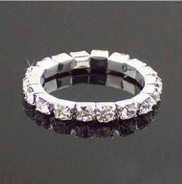 Novo estilo Bridal jóias strass cristal Stretch tênis anel jóias anéis de casamento festa presente da promoção 20pcs/lot t5096