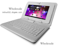 Wholesale Fashion New Leather Case with Stand USB Keyboard Cover for inch Apad Epad Flytouch iPad Tablet PC MID Android Colors