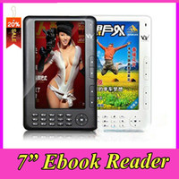 Wholesale 7 inch TFT ebook reader mutil language With Mp3 MP4 FM GB Audio player Radio player E Book Readers