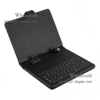 Wholesale Best Serving USB Keyboard Leather Case with Stand Cover for inch Apad Epad WM8850 Flytouch Tablet PC MID Android White Black