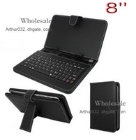 Wholesale Super Design USB Keyboard Folding Folio Leather Case with Stand Cover for inch Apad Epad Flytouch Tablet PC MID Android