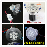 Wholesale FedEX shipping New year Dimmable led ceiling recessed down light lamp w aluminum heat sink glass covers