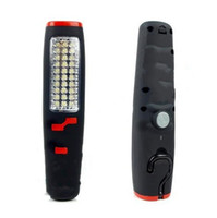 Wholesale Super Bright LED All Purpose Cordless Work Light Flashlight Torch Strong Magnet Hook Hanging Black