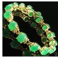Wholesale Jewelry k gold plated jade bracelet