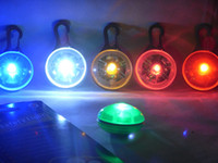 Wholesale 100pcs Pet Dog Cat Flasher Blinker LED Light Tag Safety Collar Keychain Colors