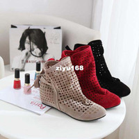 Ankle Boots Knight Boots Women Big Size 34-43 2013 New Fashion Brand Inside Heel Women Boots Spring Summer Pumps Short Boots Leisure Shoes 3 Colors Red Black Beige