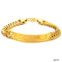 Wholesale 2012 new European and American trade jewelry jewelry K gold plated bracelet KS177 Dragon Men