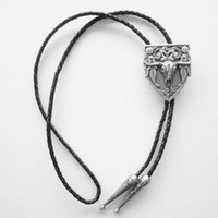 Wholesale Retail Bolo Tie New Silver Plating Western Rodeo Bull Bolo Tie BOLOTIE WT076SL Factory Direct In Stock