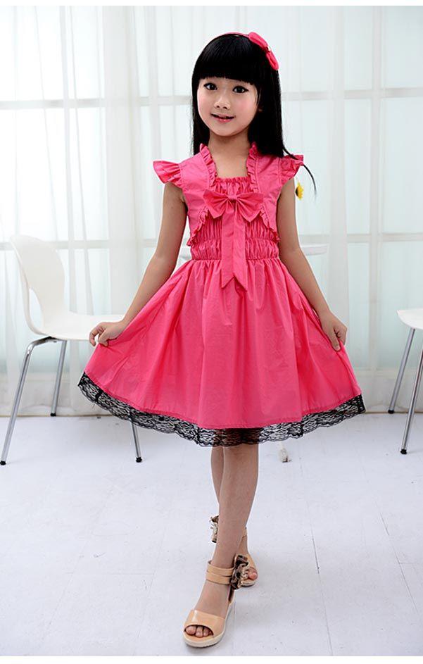 2017 Ruby Rox Kids Girls Bow Dress Watermelon Medium Korea Version ...