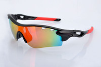 Wholesale Top quality Radarlock polarized cycling glasses Men Women fashion sports sunglasses colors pairs lens