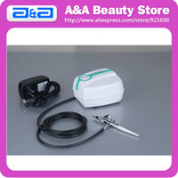 Airbrush Kit   Facial Makeup Airbrush Mini Air Compressor+Spray Gun kit 5 Speed Airbrush tattoos FREE SHIPPING CE, GS, UL certificated!