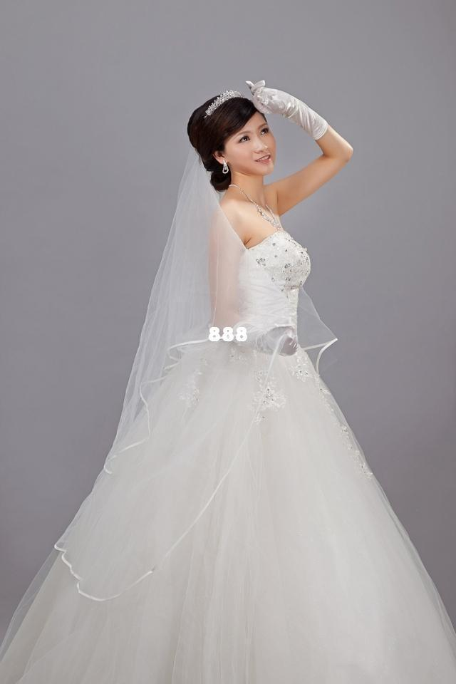3 M Edging Veil Bridal Wedding Dress Factory Direct Wholesale Accessories Online With