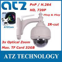 ptz wifi wireless ip camera - ATZ IHV02P Wireless PnP HD PTZ IP Camera MP WIFI Plug amp Play IR cut m way Audio x Optical Zoom Free DDNS Android iPhone APP ATZCam