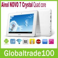 Wholesale 7 inch Android Tablet PC Ainol NOVO Crystal Quad core Ghz GB RAM GB HD HDMI WIFI Webcam One year Warranty Free DHL