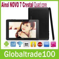 Wholesale 7 inch Android Tablet PC Ainol NOVO Crystal Quad core MID Ghz GB RAM GB HDMI WIFI Webcam Good Quality New Free DHL